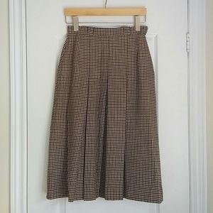 AQUASCUTUM - vintage wool houndstooth skirt